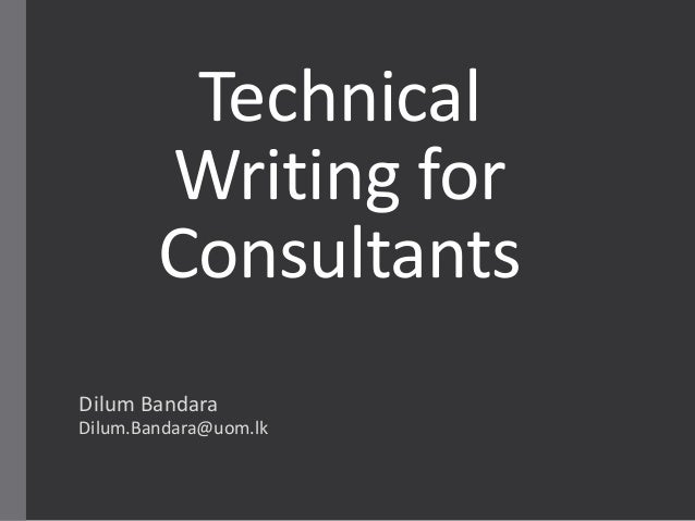 Technical writer consultant