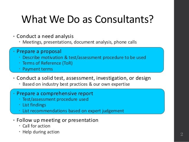 Technical writing consultants