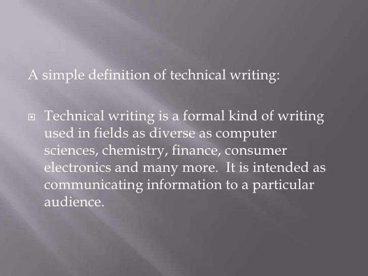 Define technical writing