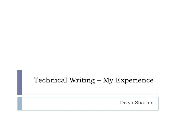 Technical writing - my experience