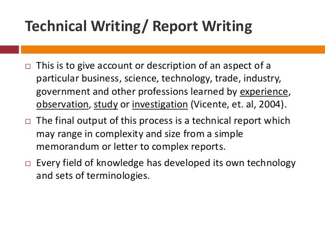 Technical writing contract