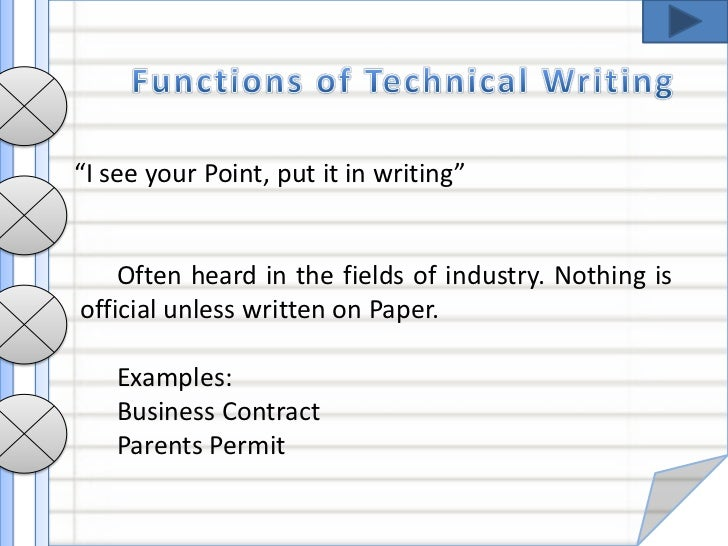 Technical writing for business
