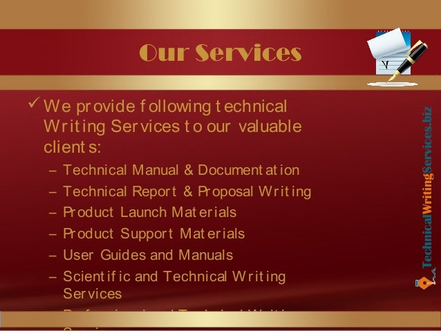 Technical writing service