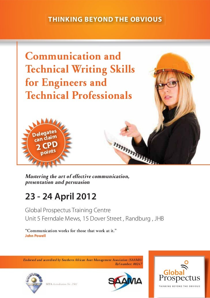 THINKING BEYOND THE OBVIOUS Communication and Technical Writing Skills for Engineers and Technical Professionals          ...
