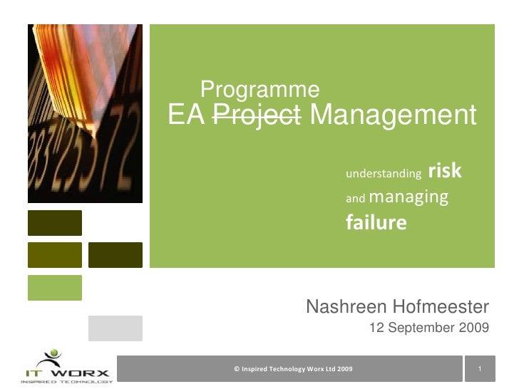 Enterprise Architecture Program Management Challenges