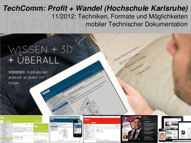 GO mobile! Der Wandel in der Technischen Kommunikation (TechComm)