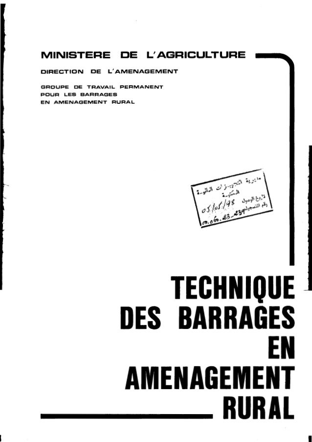 Technique des barrages en amenagement rural