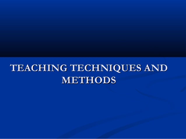 Techniques of teaching by Shams pandrani SS Kalat college