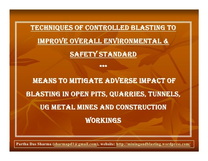Techniquescontrolledblasting 091217003405-phpapp01