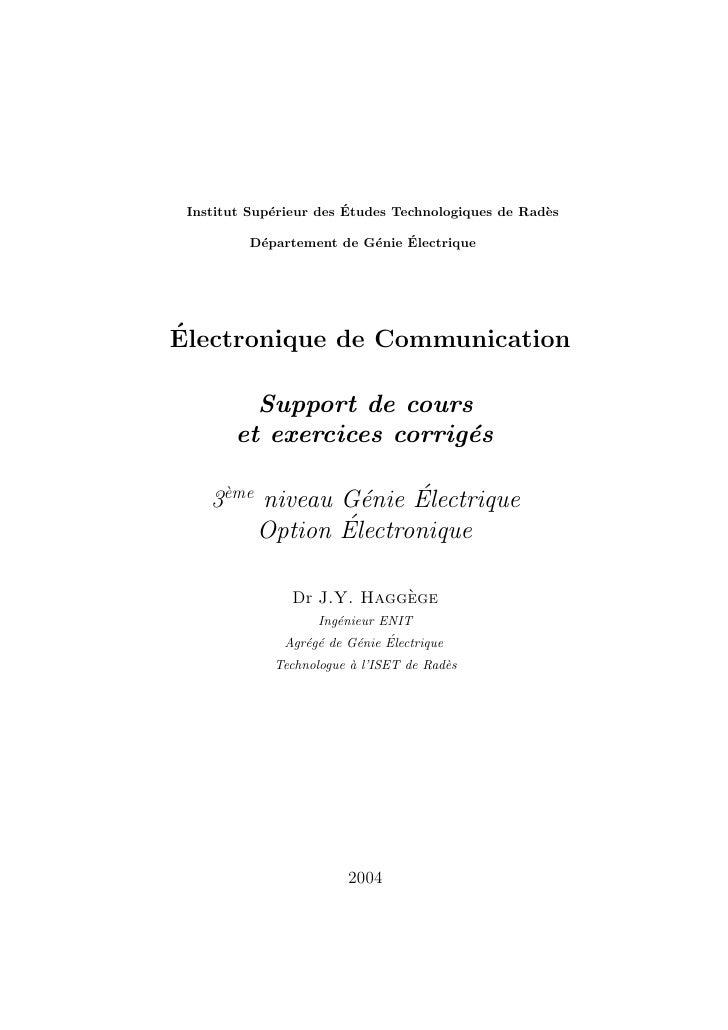 e          ´ Institut Sup´rieur des Etudes Technologiques de Rad`s                                                    e   ...