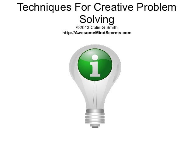 techniques for creative group problem solving