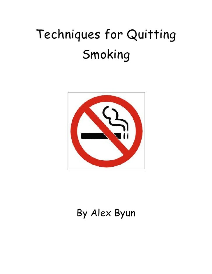 Techniques for Quitting Smoking