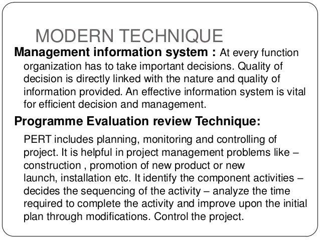 modern management techniques
