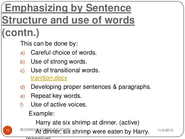 emphasizing words in an essay