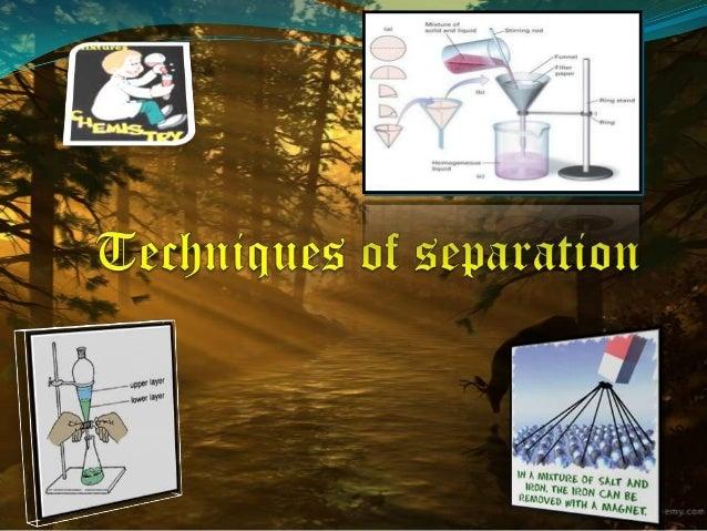 Techniques of separation, Class 9