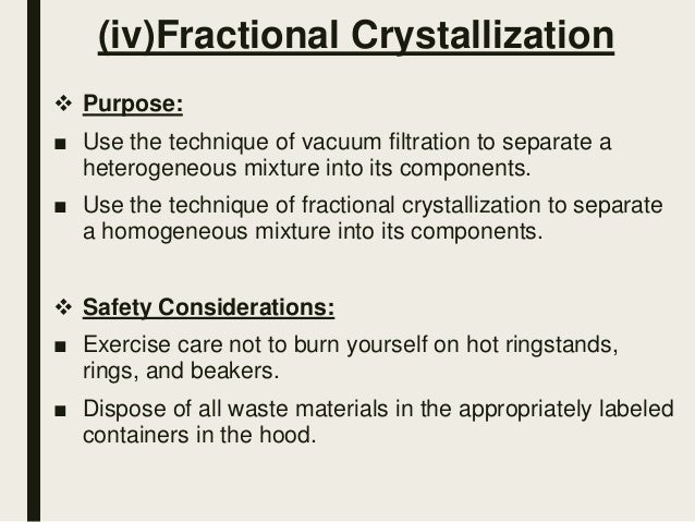 pre laboratory assignment fractional crystallization