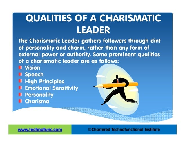 charismatic leader essay Leadership essay: good collection of academic writing tips and free essay samples charismatic leadership society is made up of many different types of leaders.