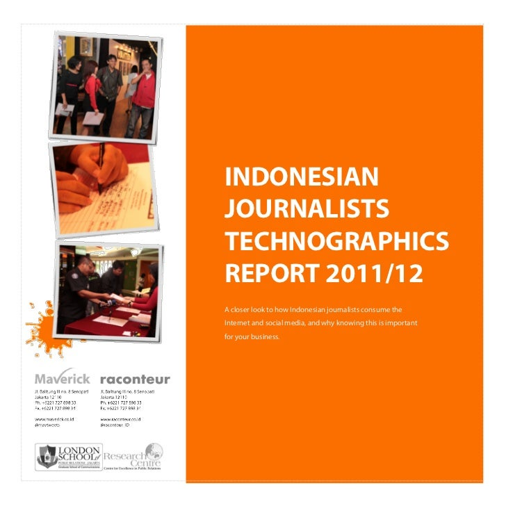 Indonesian Journalists Technographics Report 2011/12