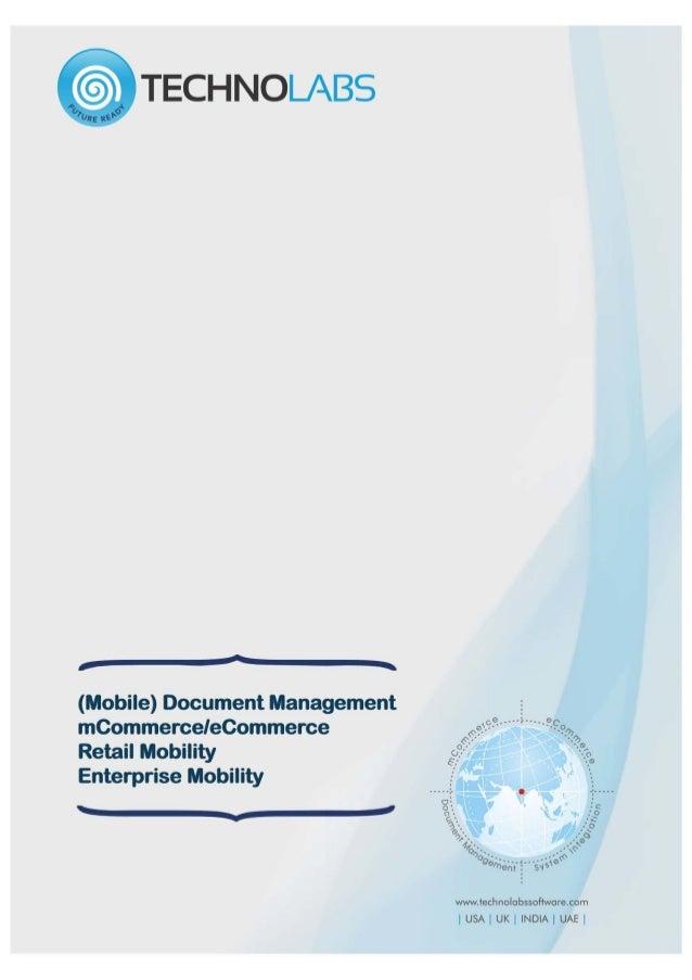TechnoLabs – Solutions | Mobile Document Management | Enterprise Mobility | eCommerce Software | Mobile BPM