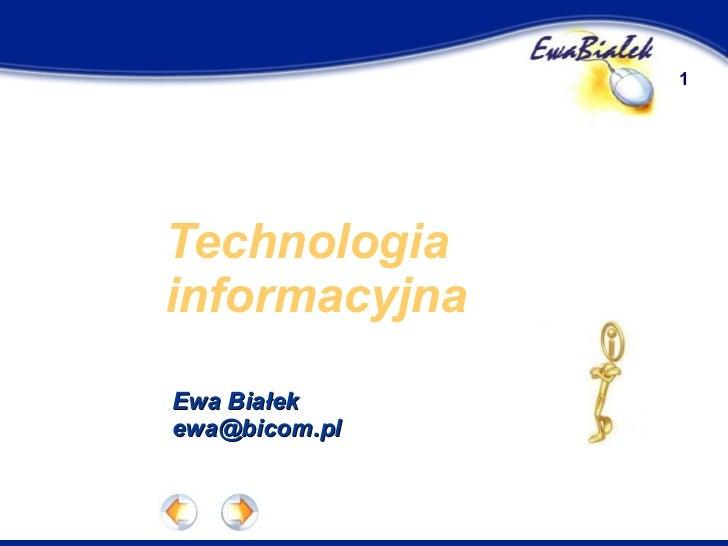 Technologia Informacyjna - Historia informatyki