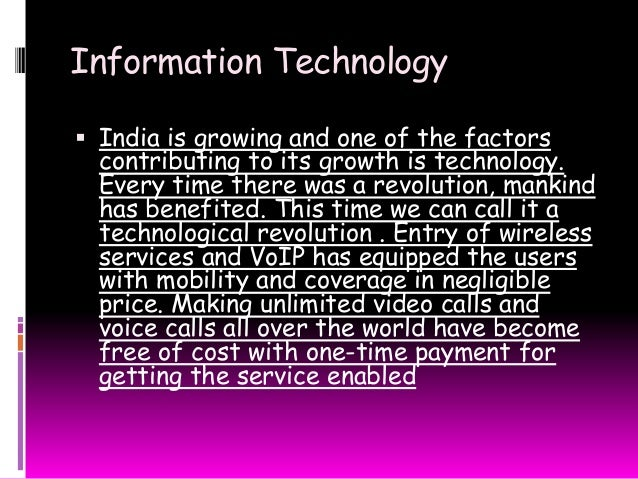 information technology revolution essay