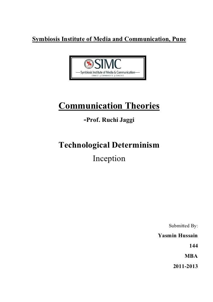 Symbiosis Institute of Media and Communication, Pune        Communication Theories                 -Prof. Ruchi Jaggi     ...