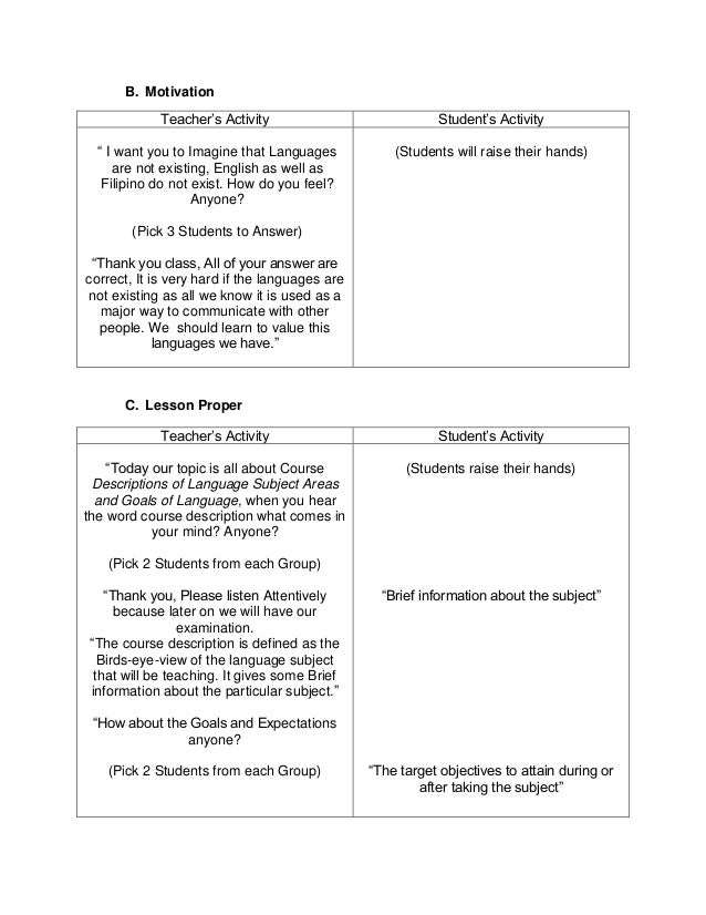 High School Science Lesson Plan Template Image Collections