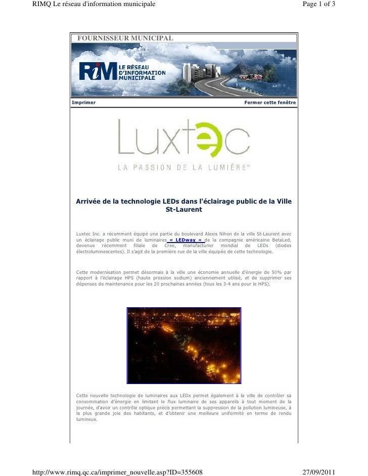 RIMQ Le réseau dinformation municipale                                                                           Page 1 of...