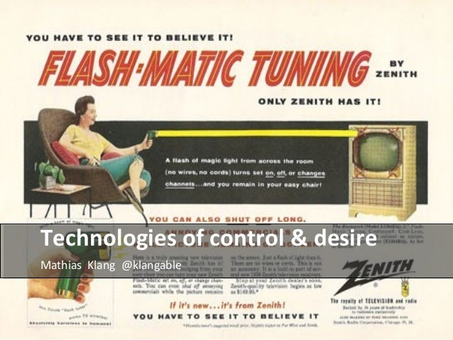 Technologies of control & desire