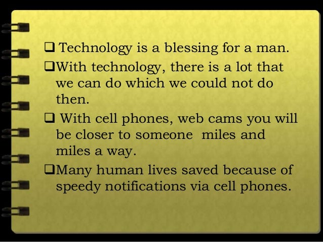 technology is a blessing essay