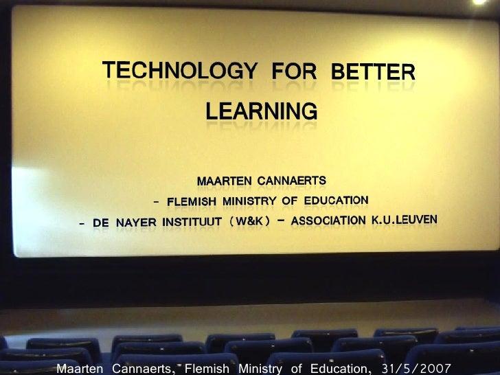 Technology for better learning?