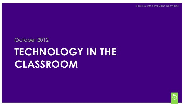 """Technology in the Classroom"" Survey Results"