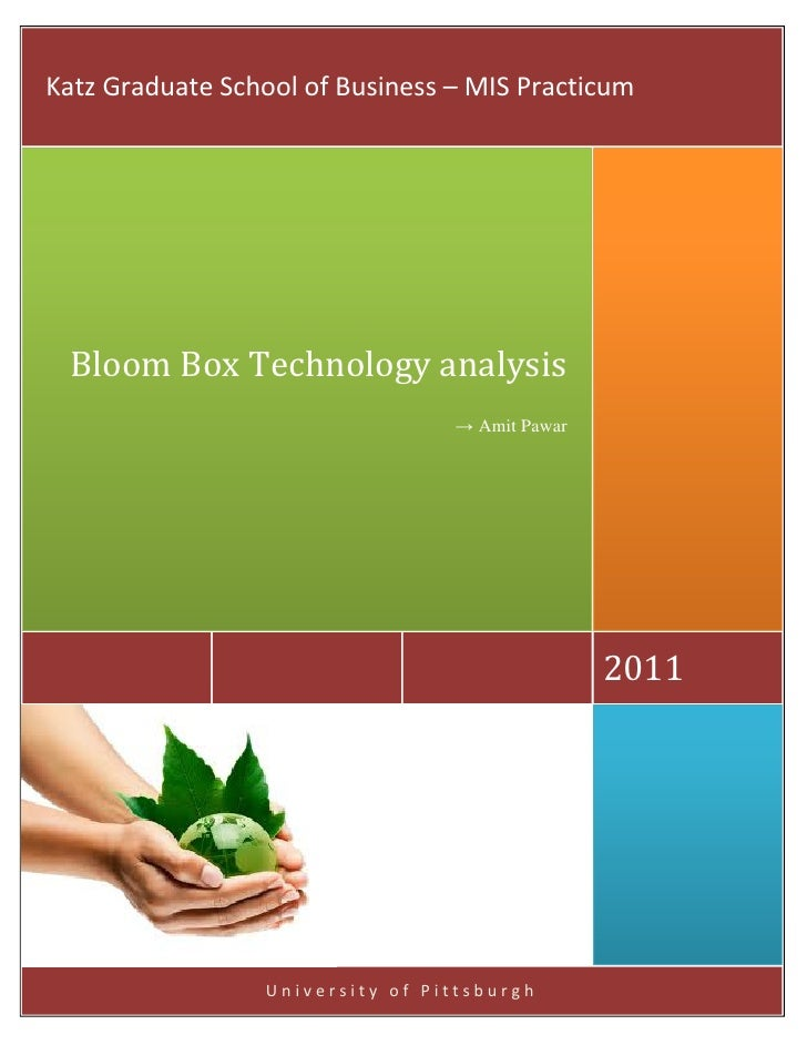 Technology analysis - Bloom Box