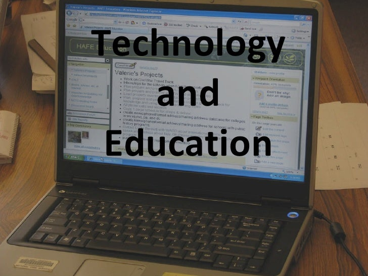 Technology And Education Ppt