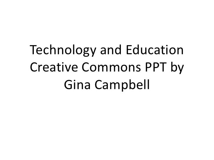 Technology and education presentation