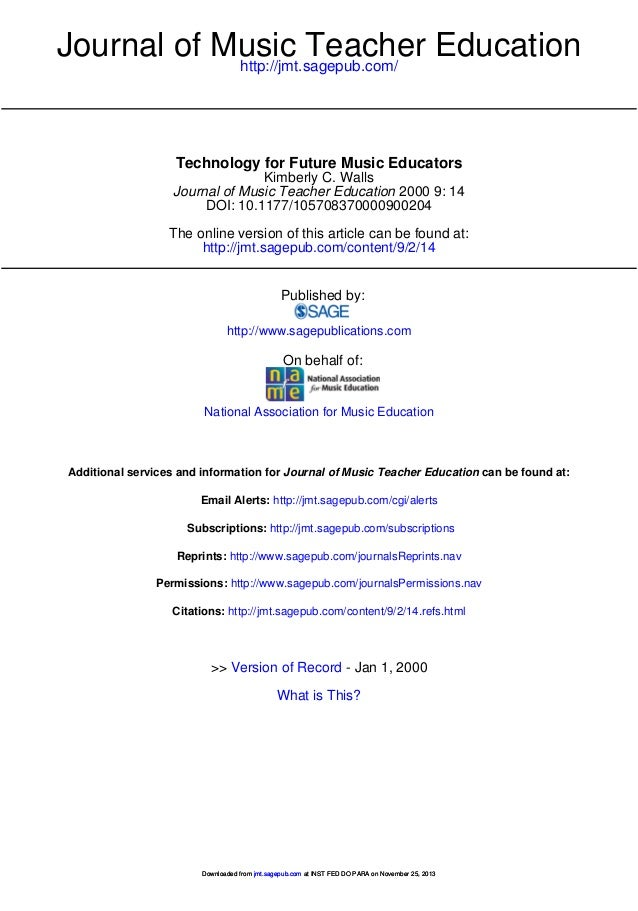 Technology for future music education   journal of music teacher education-2000-walls-14-21