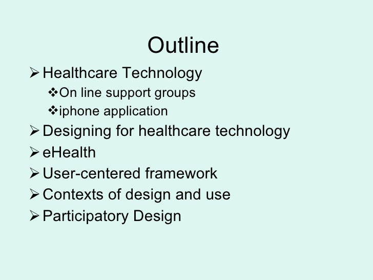 Technology in health care  copy