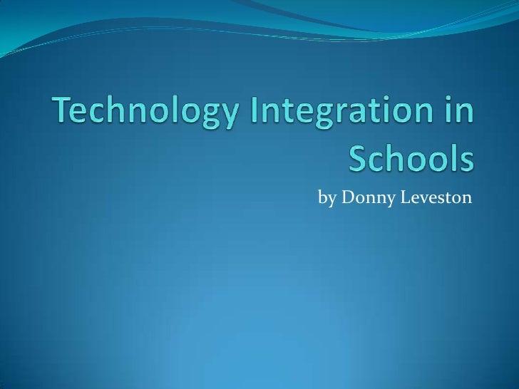 Technology integration in schools