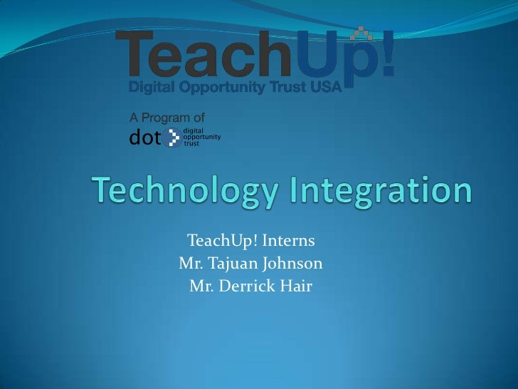 Technology integration presentation