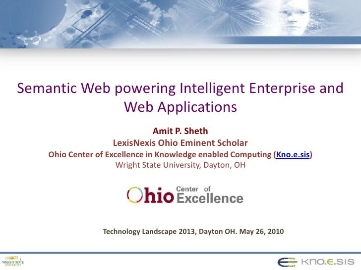 Semantic Web powering Enterprise and Web Applications