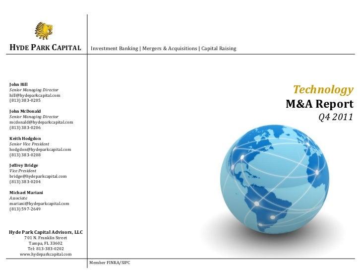HYDE PARK CAPITAL                 Investment Banking | Mergers & Acquisitions | Capital RaisingJohn HillSenior Managing Di...