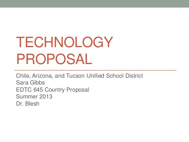 Technology proposal