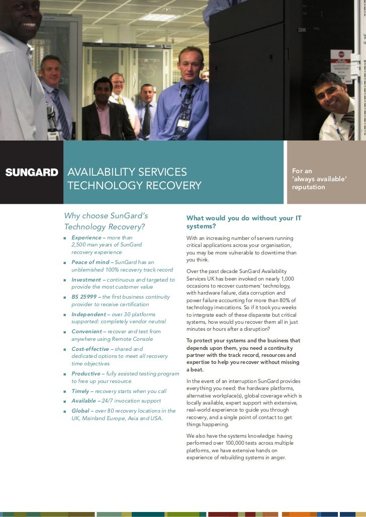 SunGard Technology Recovery