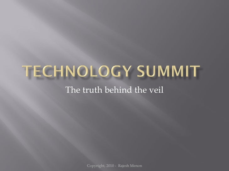 The truth behind the veil Copyright, 2010 -  Rajesh Menon