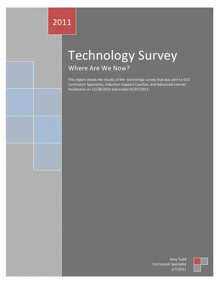 Technology survey 01 2011