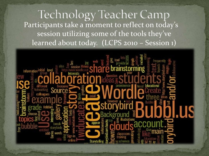 Technology Teacher Camp<br />Participants take a moment to reflect on today's session utilizing some of the tools they've ...