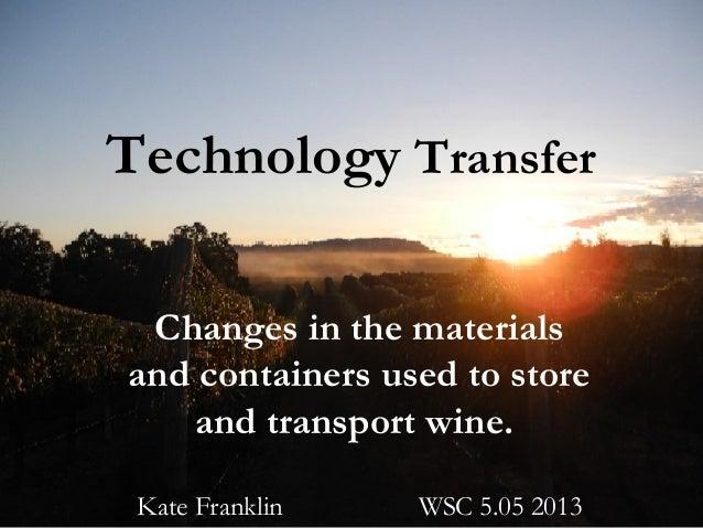 Technology transfer kate franklin