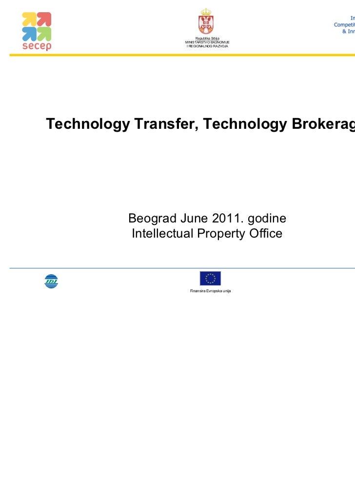 Technology transfer technology brokerage day 1 full en