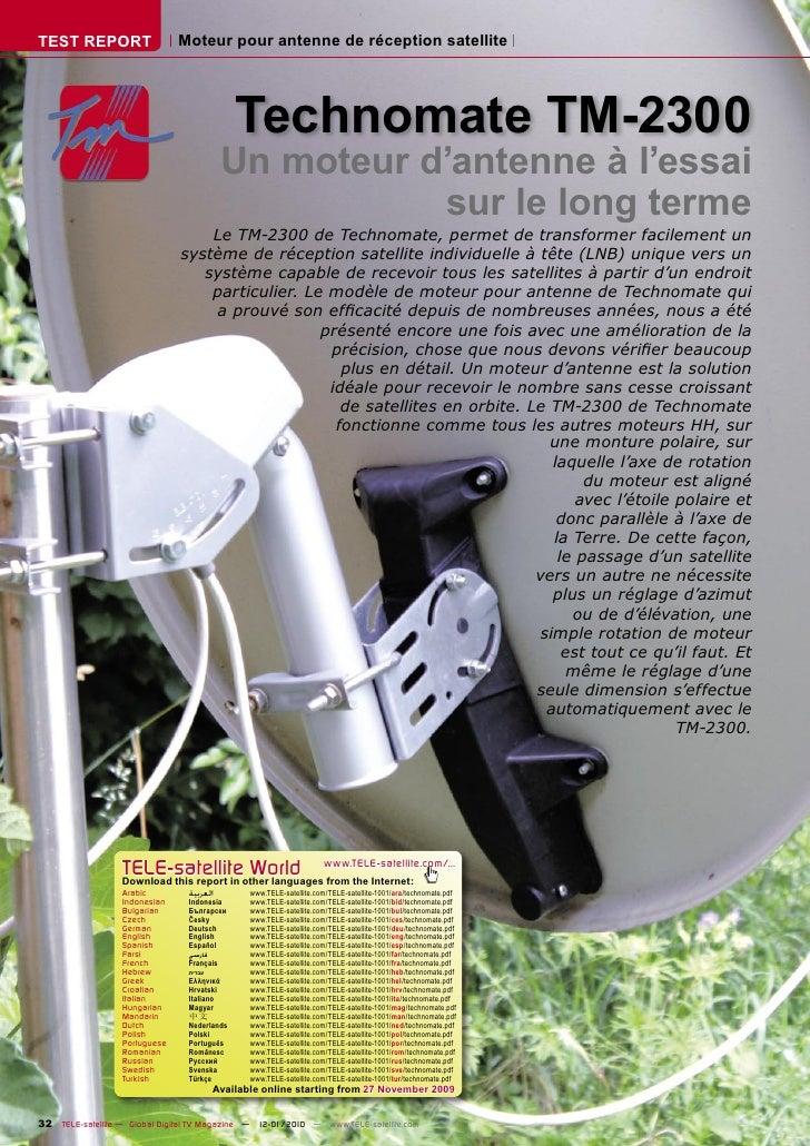 TEST REPORT                    Moteur pour antenne de réception satellite                                                 ...