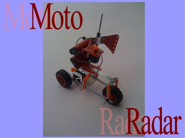 Les pièces  utilisées   pour laconstruction    de la moto-radar
